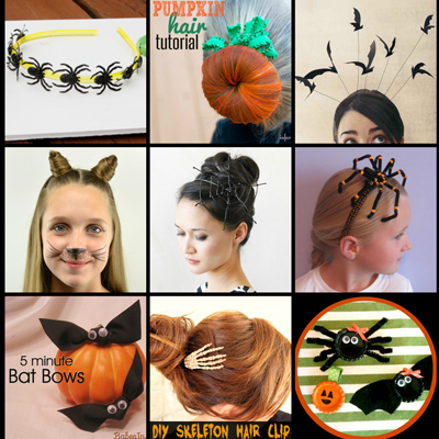 15+ Easy DIY Halloween Hair Accessories