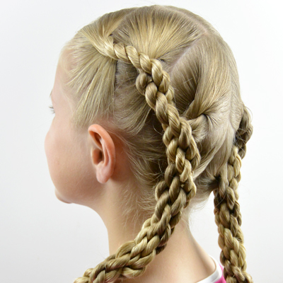 Quadruple Hawser Twist Hairstyle