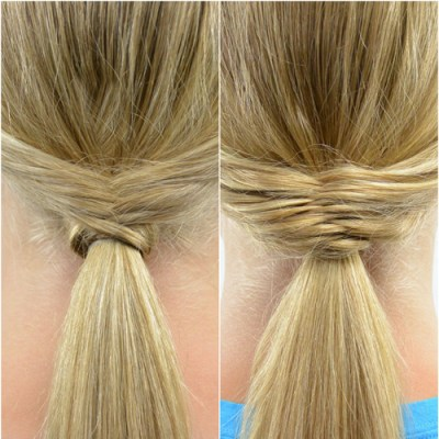Fishtail Topped Ponytail