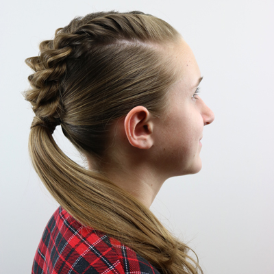 French Twists into a Ponytail