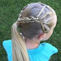 Ponytails & 4 Strand Braids