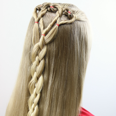 Triple Hearts And Braid | Valentineu0027s Day Hairstyle