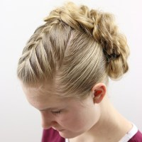 Easy Twisted Updo for Prom or Weddings