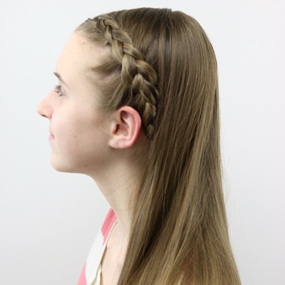 diy dutch braid tuck under hairstyle for teens and tweens