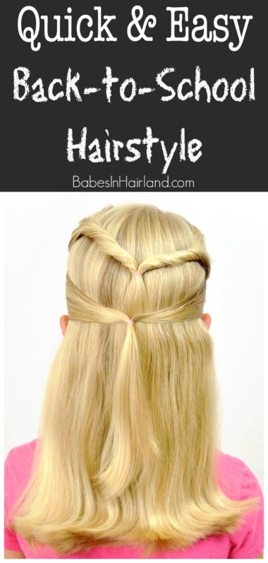 Quick U0026 Easy Back To School Hairstyle