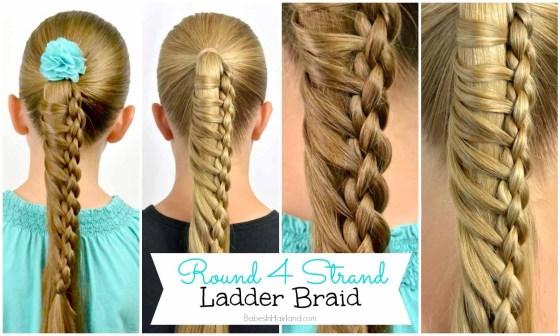 Round 4 Strand Ladder Braid from BabesInHairland.com
