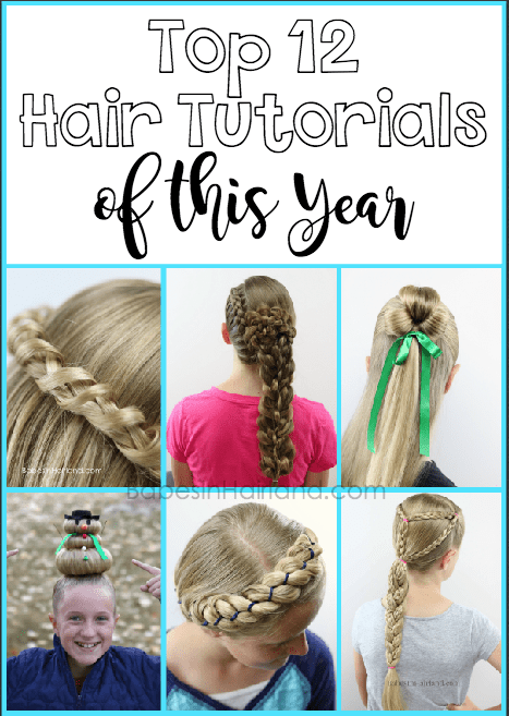Looking for the top hairstyles of the year? We've rounded up 12 of the best all in one place. From braids to buns, for school or prom, we have them all from BabesInHairland.com #hair #hairstyles #tophairstyles #braids #buns #crazyhairday #diy #tutorials