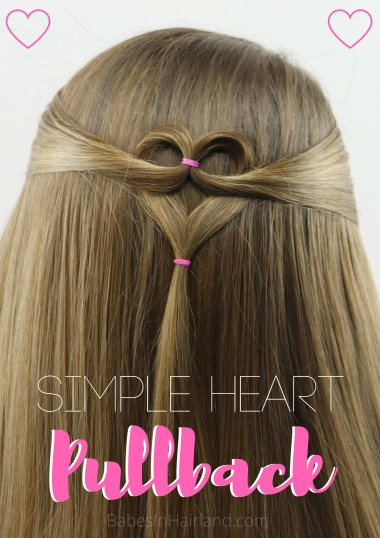 Need a cute Valentine's Day heart hairstyle but don't have much time? Try this quick and easy heart pullback hairstyle from BabesInHairland. Love is in the hair with this cute Valentine's Day hairstyle. #hair #valentinesday #hearthair #hearts #loveisinthehair