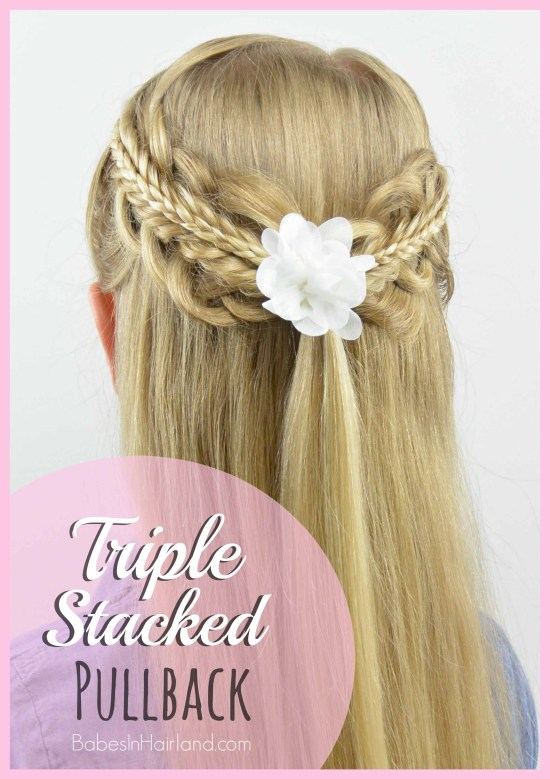 Triple Stacked Pullback from BabesInHairland.com #braids #hair #hairstyle