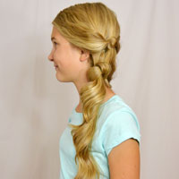 Side Swept Double Knots Hairstyle
