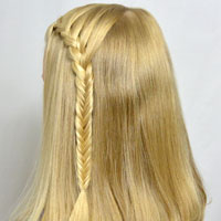 Lace Braid into a Fishbone Braid