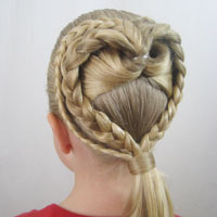 2 Braided Hearts Video   Valentine's Day Hairstyle