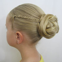 Knotted Bun & Micro Braids | Back-to-School Hair