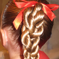 Rope/Twist Braid – Braided Ponytail