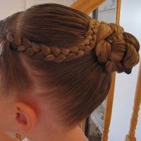 Bun with an Accent Braid
