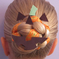 Halloween Hair – Jack O' Lantern Bun