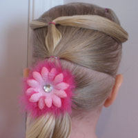 Toddler Version – A Fancy Row of Ponytails