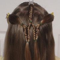 Little Fishbone Braids & Ponytails