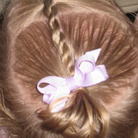 Baby Rope Braid into Baby Pony