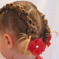 4 Rope Braid Twisted Hairstyle