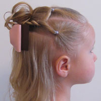 Combo Flower Girl Hairstyle