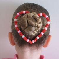 Bun & a Heart Shaped Craft Hairstyle