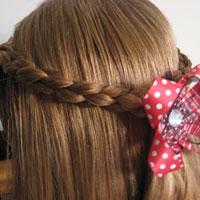 Simple 4 Strand Braid Pullback Hairstyle