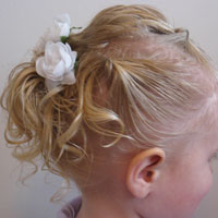 Baby Hair Easter Updo