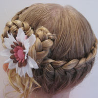 Half French Braided Crown #2