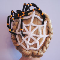 Spiderweb Hairstyle for Halloween