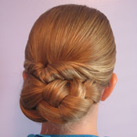 Easy Rolled Braid Updo