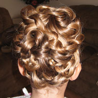 Three Ponytail Knotted Updo