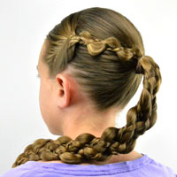 Easy Braided Hairstyle for Summer
