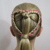 Ribbon Laced Heart | Valentines Day Hairstyle