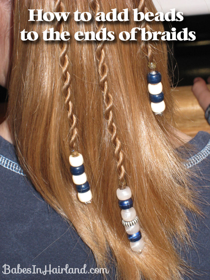 Rope braids with beads babes in hairland how to add beads to the ends of braids 2 ccuart Gallery