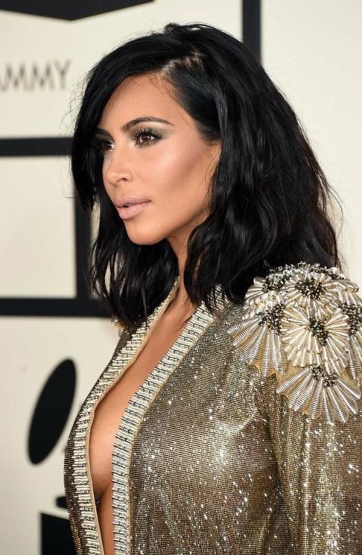 Kim Kardashian at the 2015 Grammys