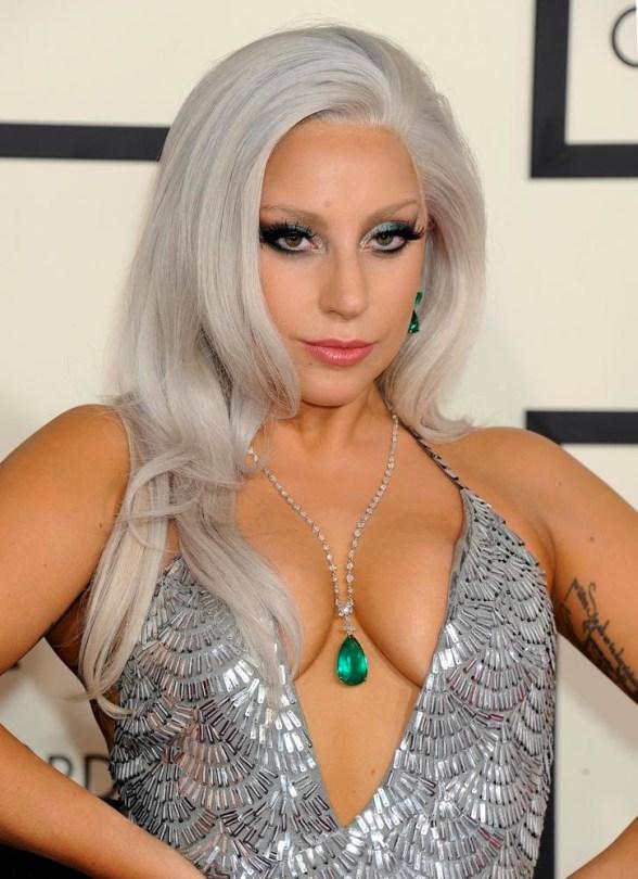 Lady Gaga at the 2015 Grammys