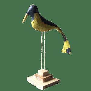 Harry de statige papiermache vogel op stok