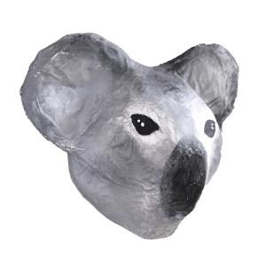 papiermache beertje koala van zijkant bezien