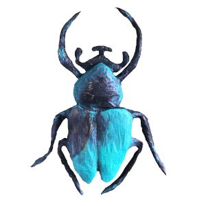 papiermache beetle heel erg groot