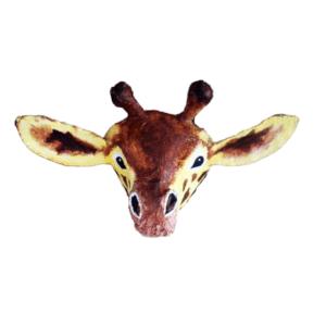 afbeelding van een papiermache dierenkop