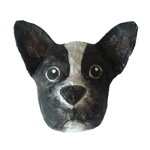 papiermache hond ras frenchie