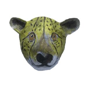 papiermache dierenkop cheetah