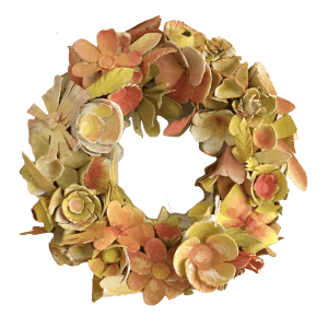 gele bloemenkrans babetteswereld