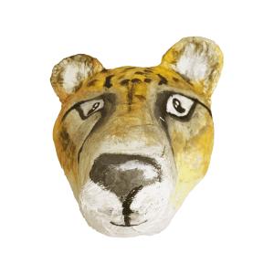 Cheetah van papiermache voor aan de muur