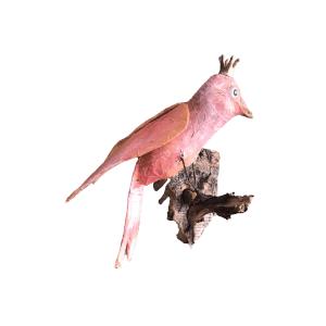 koningin onder de papiermache vogels