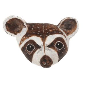 papiermache kop van wasbeer gemaakt door babetteswereld