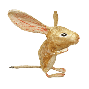 papiermache handgemaakte springmuis