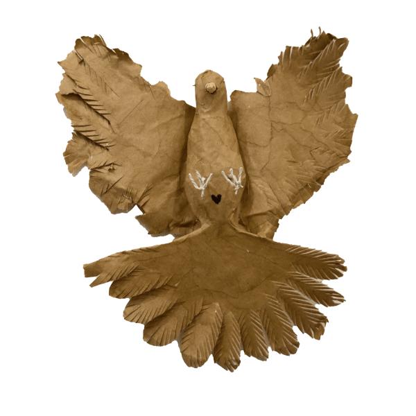 freedom duiven van oude papieren tassen
