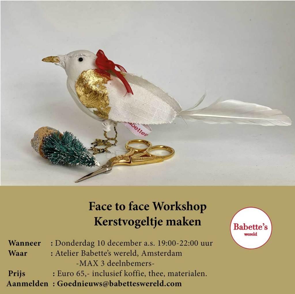 Kerstvogeltje workshop AMSTERDAM